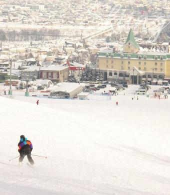 富良野スキー場 目の前